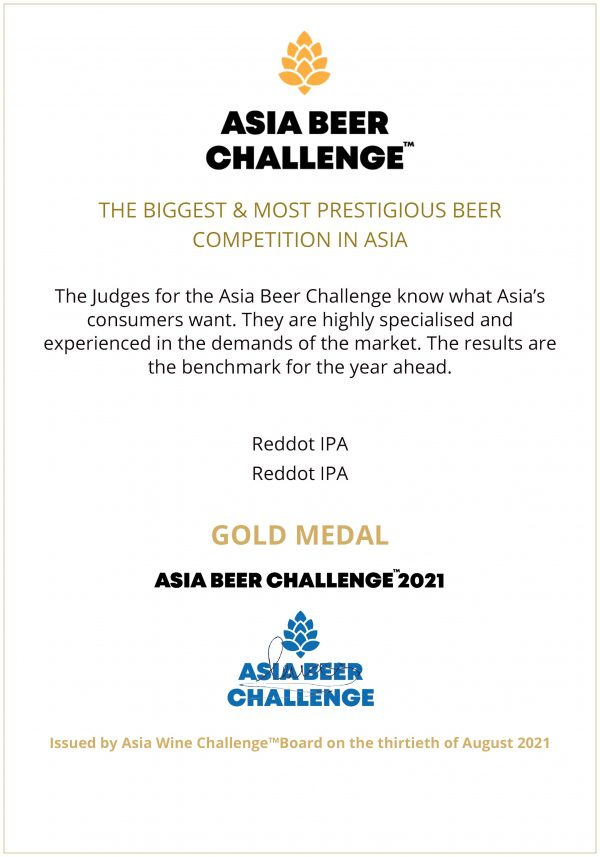 Beer Asia Challenge_Gold Award